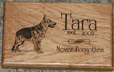 Engraved Wooden Memorial Plaque   | The Sign Maker Shop